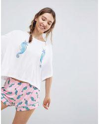 Chelsea Peers - Seahorse Short Pyjamas - Lyst