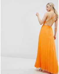 ASOS - Cami Pleated Maxi Dress With Strappy Back - Lyst