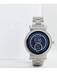 Michael Kors - Access Mkt5020 Sofie Bracelet Smart Watch In Silver - Lyst