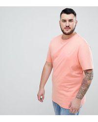 Original Penguin - Big & Tall Small Logo Crewneck Slim Fit T-shirt In Pink - Lyst