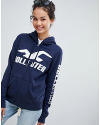 Hollister - Pullover Hoodie With Logo - Lyst