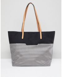 Yoki Fashion - Black Shopper With Chain Handle - Lyst