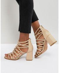 ASOS - Thistle Block Heeled Sandals - Lyst