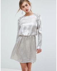Ivyrevel - Long Sleeved Ruched Shoulder Mini Dress - Lyst