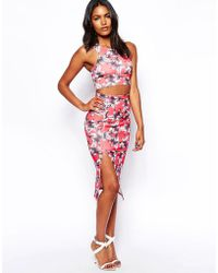 Oh My Love - Midi Pencil Skirt With In Floral Print - Lyst