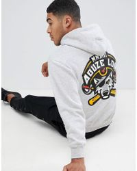 Abuze London - Abuze Ldn Wolf Back Print Hoodie - Lyst