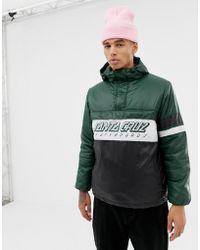 Santa Cruz - Quest 1/4 Zip Overhead Jacket In Green - Lyst