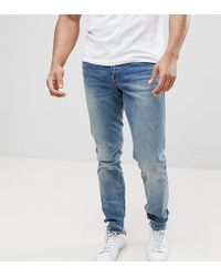 ASOS - Tall Slim Jeans In Mid Wash - Lyst