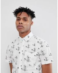 Produkt - Short Sleeve Shirt With All Over Print - Lyst