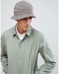 805935b2 ASOS Printed Bucket Hat in Gray for Men - Lyst