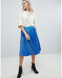 Soaked In Luxury - Velvet Pleated Skirt - Lyst