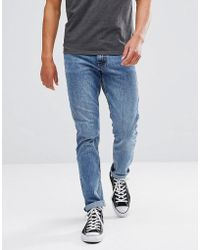 Just Junkies - Straight Fit Jeans In Light Blue Wash - Lyst