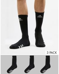 adidas Originals - Socks 3 Pack In Black Cf8419 - Lyst