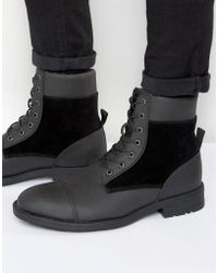 D-Struct - Borg Lined Boots - Lyst