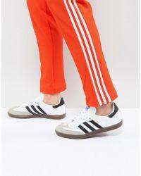 adidas originals gazelle trainers in white bb5503