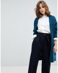 SELECTED - Longline Knitted Cardigan - Lyst