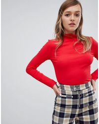 Monki - Turtle Neck In Red - Lyst