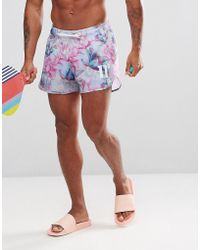 11 Degrees - Swim Shorts In Floral Print - Lyst