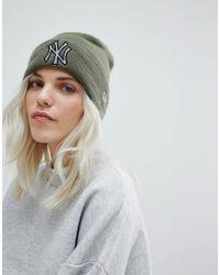 KTZ - Khaki Beanie With Reflective Ny - Lyst
