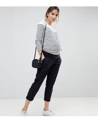 ASOS - Chino Trousers In Navy With Under The Bump Waistband - Lyst