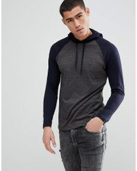French Connection - Long Sleeve Raglan Top With Hood - Lyst