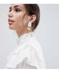 Accessorize - Gold Layered Crescent Statement Earrings (+) - Lyst