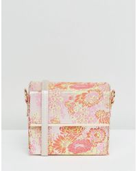 New Look - Floral Print Box Cross Body Bag - Lyst