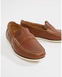 Barbour - Keel Loafers In Brown - Lyst