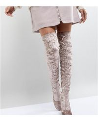 ASOS - Asos Katcher Heeled Over The Knee Boots - Lyst
