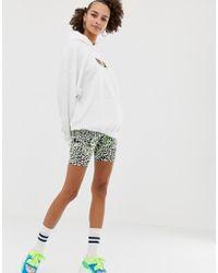 ASOS - Animal Print With Neon Pop legging Short - Lyst