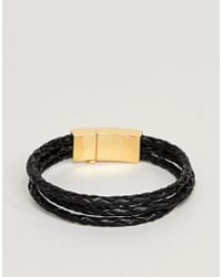 Vitaly - Tether Bracelet In Gold & Black - Lyst