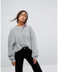 Weekday - Huge Knit Sweater - Lyst