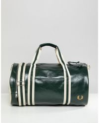 Fred Perry - Classic Barrel Bag In Green - Lyst