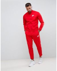 Nike - Woven Tracksuit Set In Red 861778-657 - Lyst