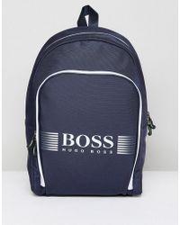 BOSS - Pixel Backpack In Navy - Lyst