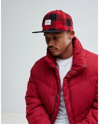 Pull&Bear - Snap Back In Red Check - Lyst