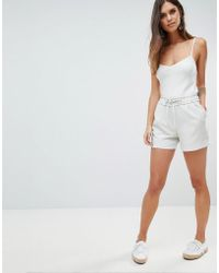 Y.A.S - Paperbag Waist Short - Lyst