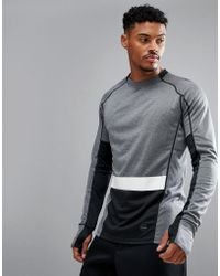 Björn Borg - Performance Long Sleeved Top In Colour Block - Lyst