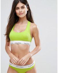Calvin Klein - Modern Cotton Bralette Unlined - Lyst