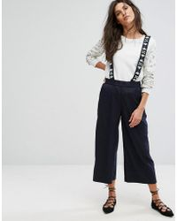 Suncoo - Embellished Pinny Pants - Lyst