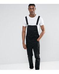 ASOS - Peto de estilo pantalones chinos en negro de Tall - Lyst