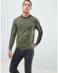Ted Baker - Sweater With Panel Color Block - Lyst