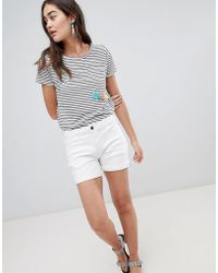 Brooklyn Supply Co. - Denim Shorts With Turn Up And Stripe Tape - Lyst