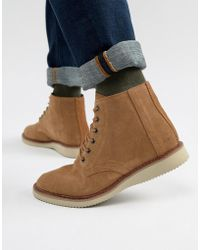 TOMS - Porter Water Resistant Lace Up Boots In Brown - Lyst