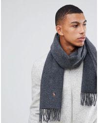 Polo Ralph Lauren - Multi Player Logo Wool Scarf In Charcoal Marl - Lyst