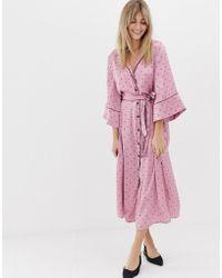 Vero Moda - Spot Pj Midi Dress - Lyst