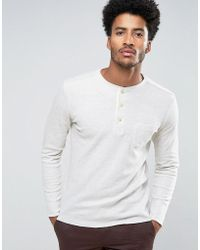 Mango - Man Long Sleeve Top With Buttons In Off White - Lyst