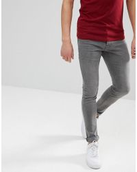 Solid - Skinny Fit Jeans In Grey - Lyst