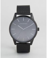 Unknown - Urban Ombre Mesh Watch In Black - Lyst
