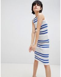 Paisie | Fine Knit Ribbed Midi Dress With Round Neck | Lyst